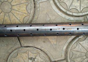 Подготовленая труба для забивки скважины