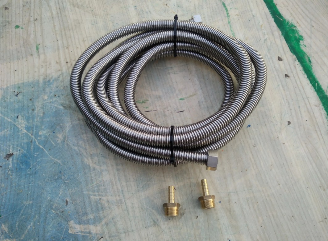 Гибкая подводка для газа сильфонного типа на 1/2 дюйма
