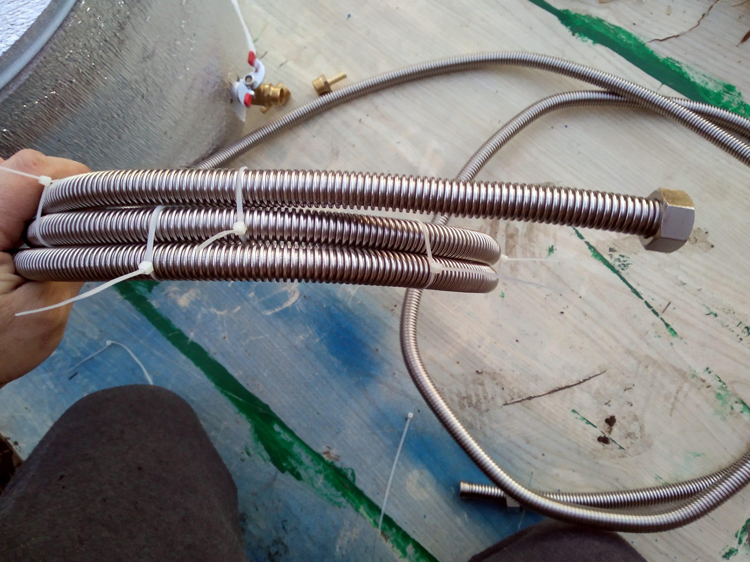 Гибкая подводка для газа сильфонного типа на 1/2 дюйма связанная пластиковыми стяжками