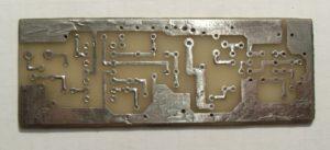 Печатная плата металлоискателя Пират со стороны дорожек обуженная