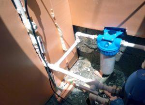 Фильтр водопроводный установленный на скважину