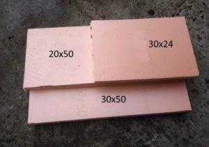 Отрезки пеноплекса толщиной 20 мм