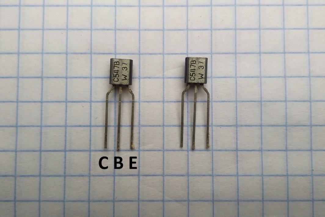 Транзисторы BC547 цоколёвка