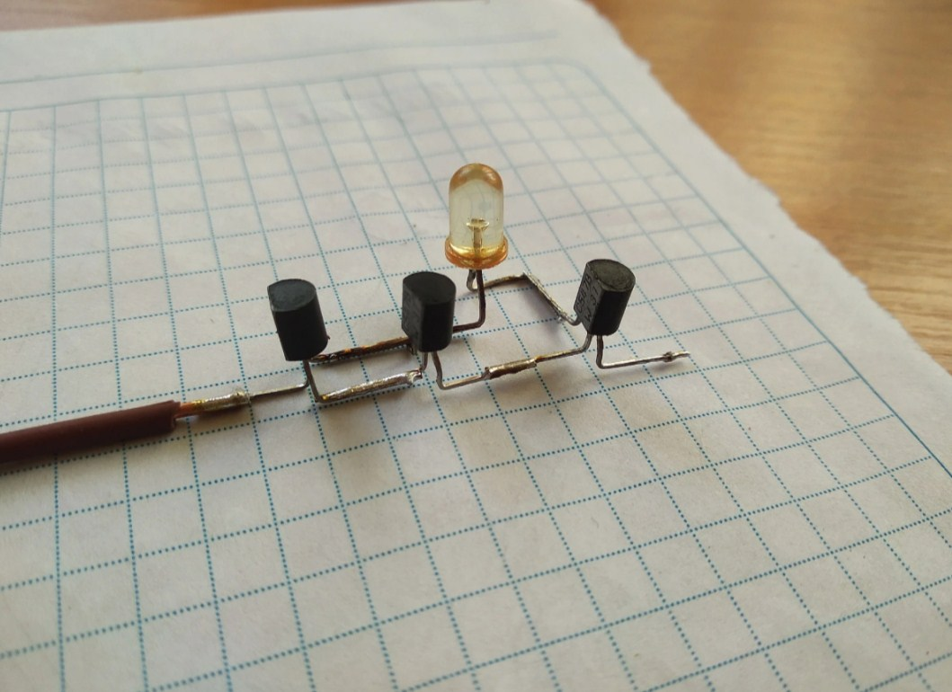 Сборка детектора скрытой проводки