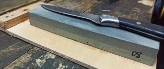 Заточка ножей при помощи трёх камней и простого приспособления
