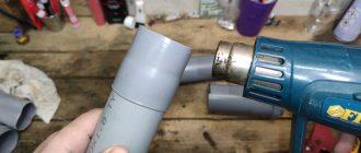 Соединение канализационной ПВХ-трубы самодельной муфтой